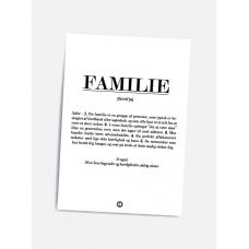 Familie definition, A5 kort