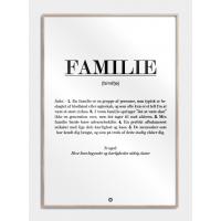 Familie definition plakat, M (50x70, B2)