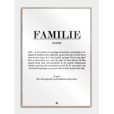 Familie definition plakat, M (50x70, B2)