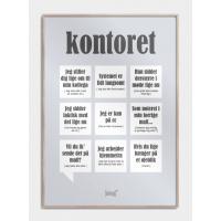 Kontoret plakat, M (50x70, B2)