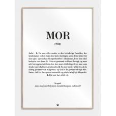 Mor definition plakat, M (50x70, B2)