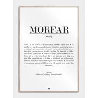 Morfar definition plakat, M (50x70, B2)