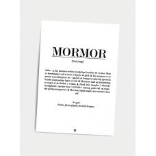 Mormor definition, A5 kort