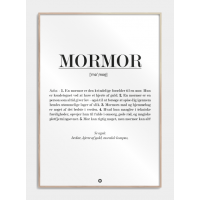 Mormor definition plakat, M (50x70, B2)