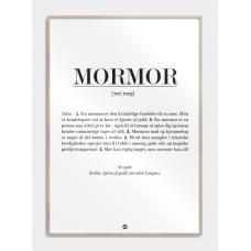Mormor definition plakat, M (50x70, B2)