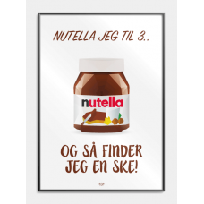 Nutella jeg til 3 plakat, M (50x70, B2)