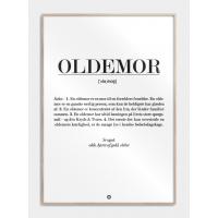 Oldemor definition plakat, S (29,7x42, A3)