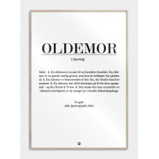 Oldemor definition plakat, M (50x70, B2)