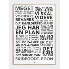 Olsen Banden citater plakat, M (50x70, B2)