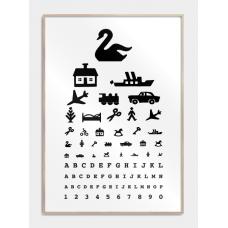 Retro synstavle plakat, M (50x70, B2)