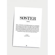 Søster definition, A5 kort