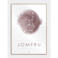 Stjernebillede plakat - jomfru, S (29,7x42, A3)