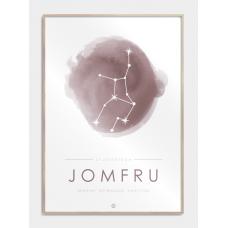 Stjernebillede plakat - jomfru, M (50x70, B2)