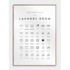 Vaskeguide plakat - Laundry room, M (50x70, B2)