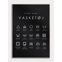 Vaskeguide plakat - Symbol guide, M (50x70, B2)