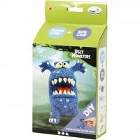 Foam Clay, funny friends, blå monster