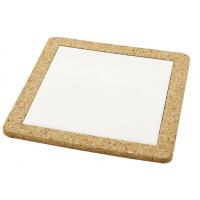 Bordskåner med korkramme (19x19 cm)