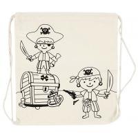 Gymnastikpose, pirater - lys natur (37x41 cm)