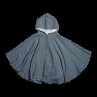 Muslin poncho, blue spruce