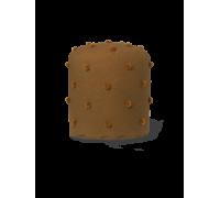 Dot tufted pouf - mustard