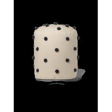 Dot tufted pouf - sand/sort