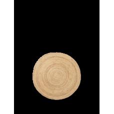 Jute gulvtæppe, natur - rund (str. s)
