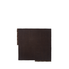 Kelim rug, square - Dark melange