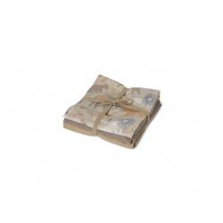 Muslin stofbleer, 3 stk. - Safari
