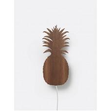 Væglampe, ananas - røget eg