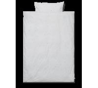 Voksen sengetøj - dot embroidery/light grey