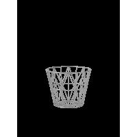 Wire basket, small - light grey