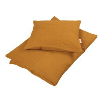 Baby sengesæt, Muslin Golden mustard