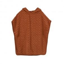 Bade poncho - Zigzag, rust