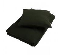 Junior sengetøj, muslin dark green