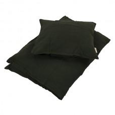 Baby sengetøj muslin, dark green