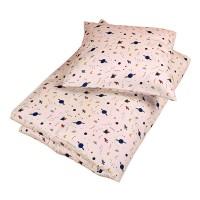 Junior sengetøj, space nature white