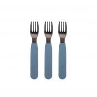 Silikone gafler, 3-pak - Powder blue