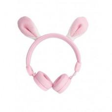 Høretelefoner, lyserød kanin
