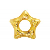 Badering, guld med glimmer