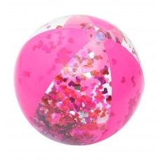 Badebold, pink med glimmer