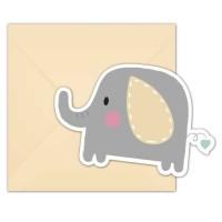 Indbydelse, baby elefant