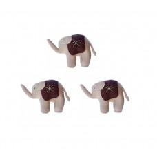 Elefantfamilie (3 stk) - brun