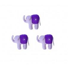 Elefantfamilie (3 stk) - lilla