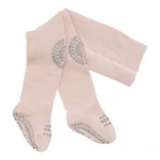 Kravlestrømpebukser, str. 12-18 mdr. - soft pink/glitter