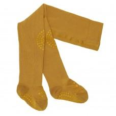 Kravlestrømpebukser, str. 6-12 mdr. - mustard