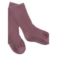 Non-slip sokker, str. 20-22 (1-2 år) - misty plum
