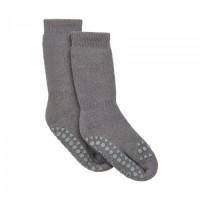 Non-slip sokker, str. 17-19 (6-12 mdr.) - mørkegrå