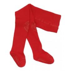 Kravlestrømpebukser, 12-18 mdr. - tango red
