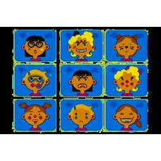 Magnetspil med sjove ansigter