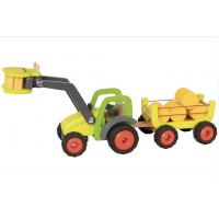 Traktor med hø vogn
